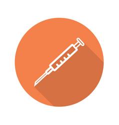syringe with needle icon vector image