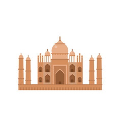 taj mahal mausoleum in agra famous monument of vector image