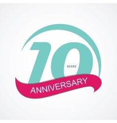 Template Logo 10 Anniversary vector