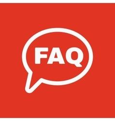 The faq speech bubble icon Help symbol Flat vector image