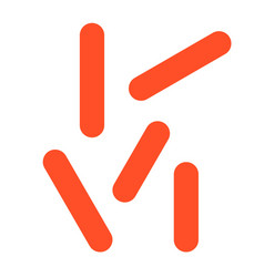 Tuberculosis virus flat style icon vector
