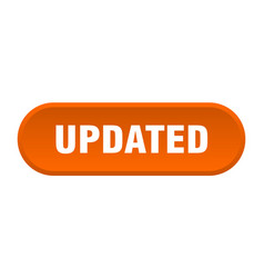 Updated button updated rounded orange sign updated vector
