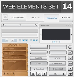 Web elements set 14 vector image