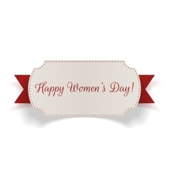 Womens day greeting realistic banner vector
