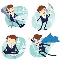 Office man set vector image vector image