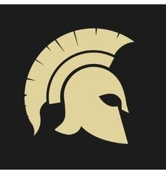 Spartan warrior Helmet vector image vector image