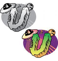 tattoo letter U vector image vector image