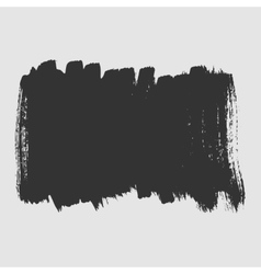 White background smeared black paint with a brush vector image