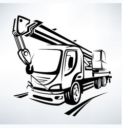auto crane isolated symbol stylized sketch vector image vector image