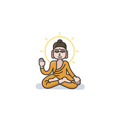 buddha sitting in the lotus position vector image