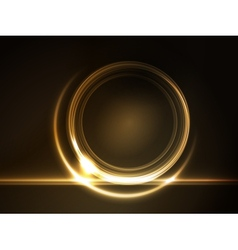 golden glowing round frame vector image