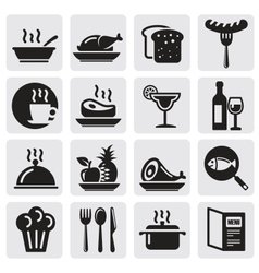 Icons set Restaurant vector image