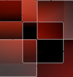 Red mosaic background in vector image vector image