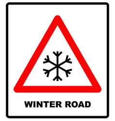 Snow warning sign weathered with snowflaces vector