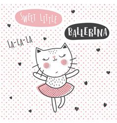 ballerina cat vector image