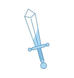 cartoon sword weapon war metal image vector image