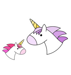cute unicorn head in design vector image