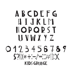 Decorative capital letters handwritten basic vector image