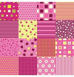Girls seamless backgrounds vector image vector image