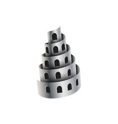 metal shavings look like a tower with windows vector image