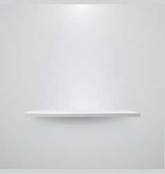 shelf with light and shadow on empty white wall vector image