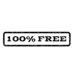 100 percent free watermark stamp vector