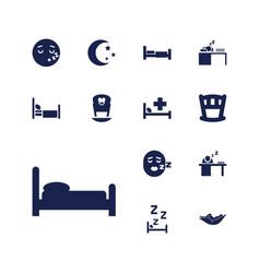 13 sleep icons vector