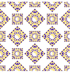 abstract triangular polygonal shape kaleidoscope vector image