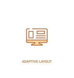 Adaptive layout concept 2 colored icon simple vector