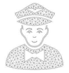 Airline steward polygonal frame mesh vector