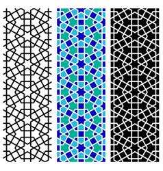 arab mosaic islamic seamless pattern vector image