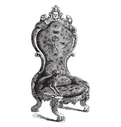 arm chair vintage vector image
