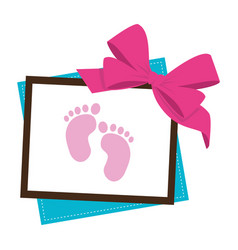 baby shower card icon vector image
