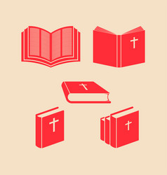 Bible set vector