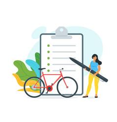 Bike rent customer agreement vector