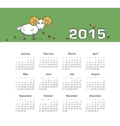 Calendar 2015 year with sheep vector image
