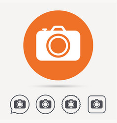 camera icon professional photocamera sign vector image