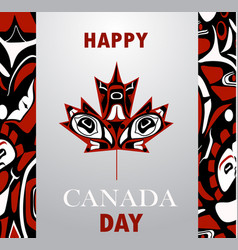 Canada flag the national day of canada vector
