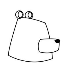 cartoon bear character wildlife animal carnivore vector image