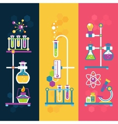 Chemistry design banners vector
