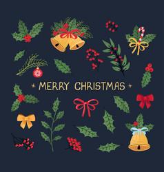 christmas modern set vector image