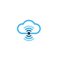 Cloud wifi logo icon design vector