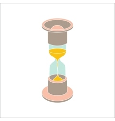 color hourglass icon on white background vector image