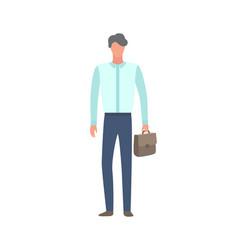 consulting manager in flat cartoon style vector image
