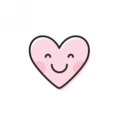 Cute heart emoji Smiling face icon vector
