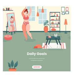 Daily goals web banner design template vector
