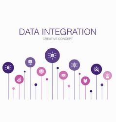 Data integration simple icons concept design vector