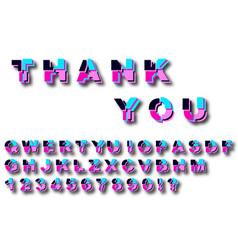 decorative colored cut font template vector image