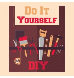 Do It Yourself tools on apron vector