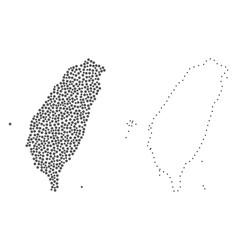 Dot contour map of taiwan vector